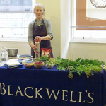 Fi Martynoga at the Edinburgh launch of the Handbook of Scotland's Wild Harvests