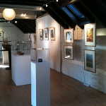 The Reforesting Scotland Woodlanders book exhibition at the Watermill in Aberfeldy